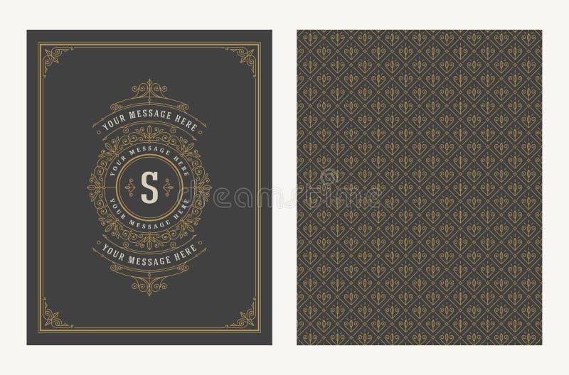 Prospera y diseño ornamental del vintage del vector para la tarjeta de felicitación o la invitación de la boda stock de ilustración