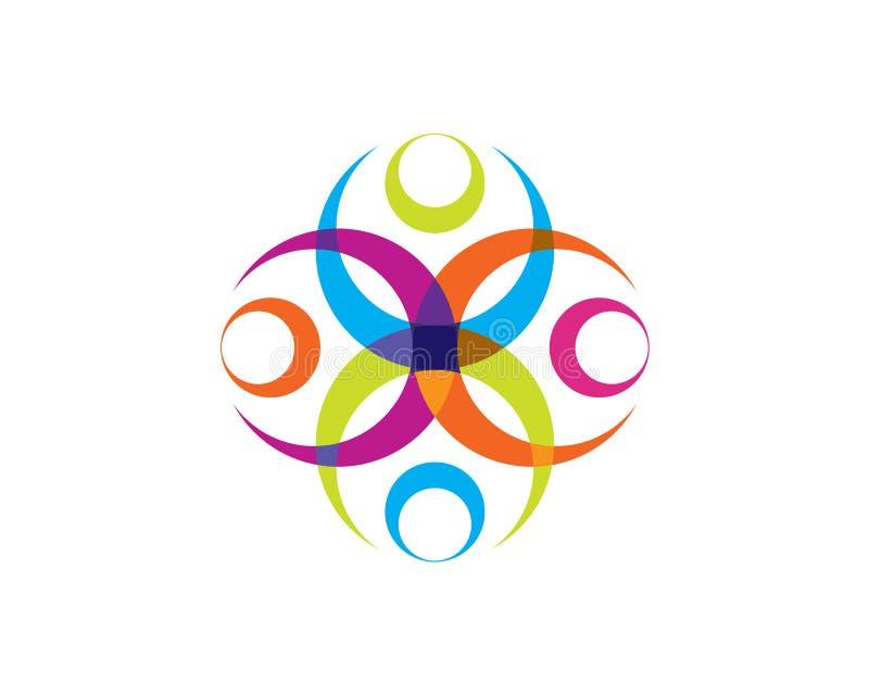 Prospere el ornamento de la flor en color vibrante stock de ilustración