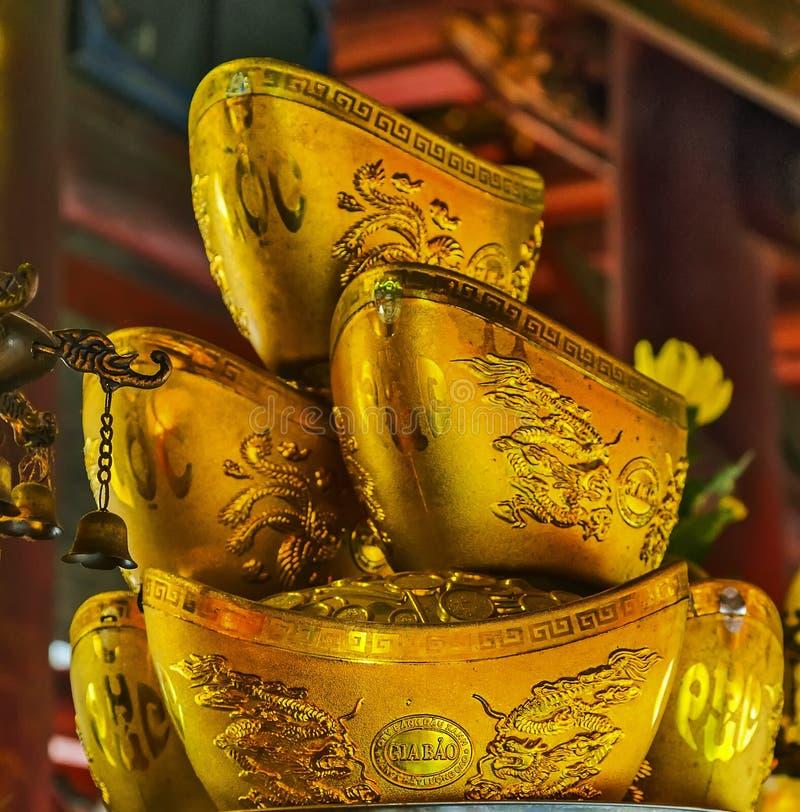 Prosperities символа миллиарда золота китайские и богатство, ri талисмана стоковые фотографии rf