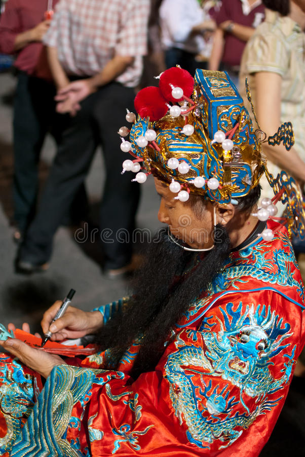 Prosperity God during Chinese New Year royalty free stock images