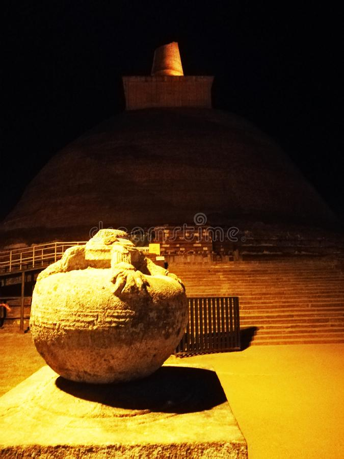 Prosperity & stupa. The architecture of Sri Lanka displays a rich variety of architectural forms and styles. Buddhism has had a significant influence on Sri royalty free stock photos