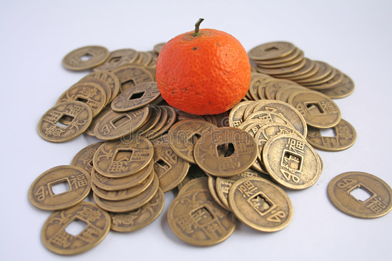 Download Prosperity Symbols in Asia stock photo. Image of oranges - 4261286