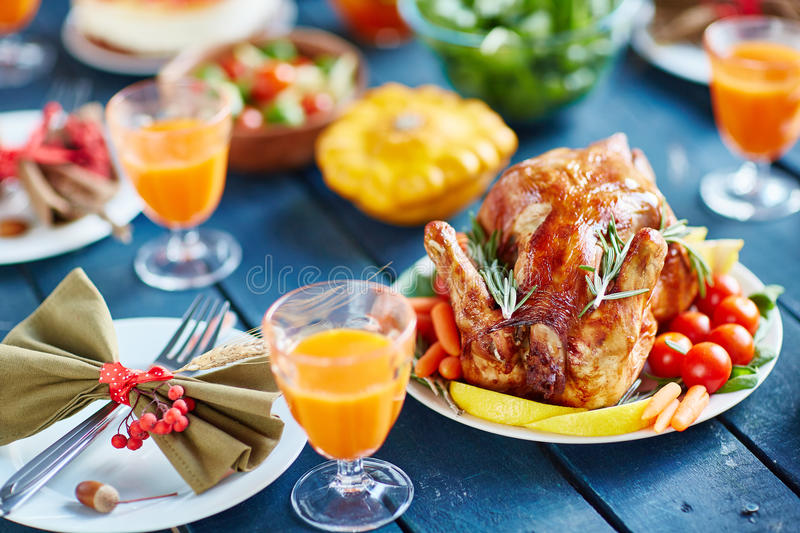 Prosperous Thanksgiving Feast royalty free stock image