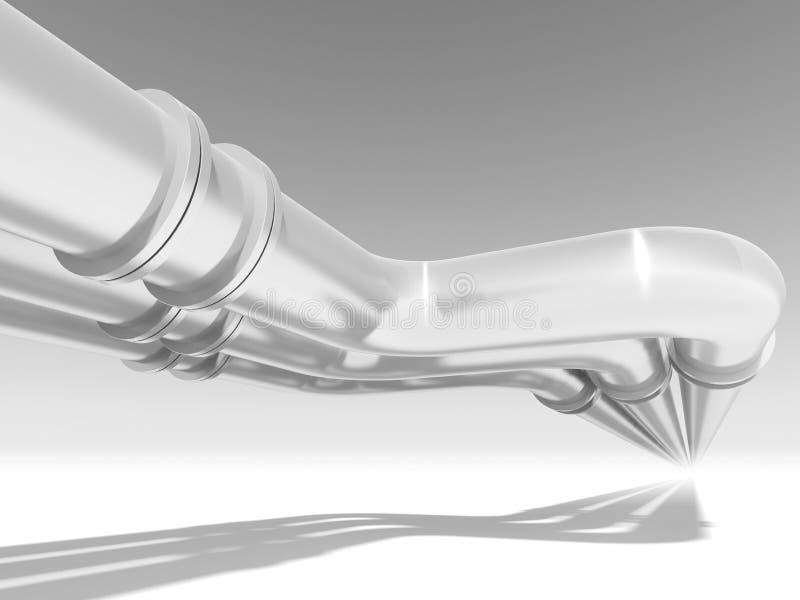 Prospettiva brillante della conduttura, illustrazione astratta 3d illustrazione vettoriale