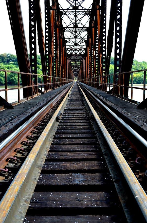 Prospettiva del ponte della ferrovia fotografia stock