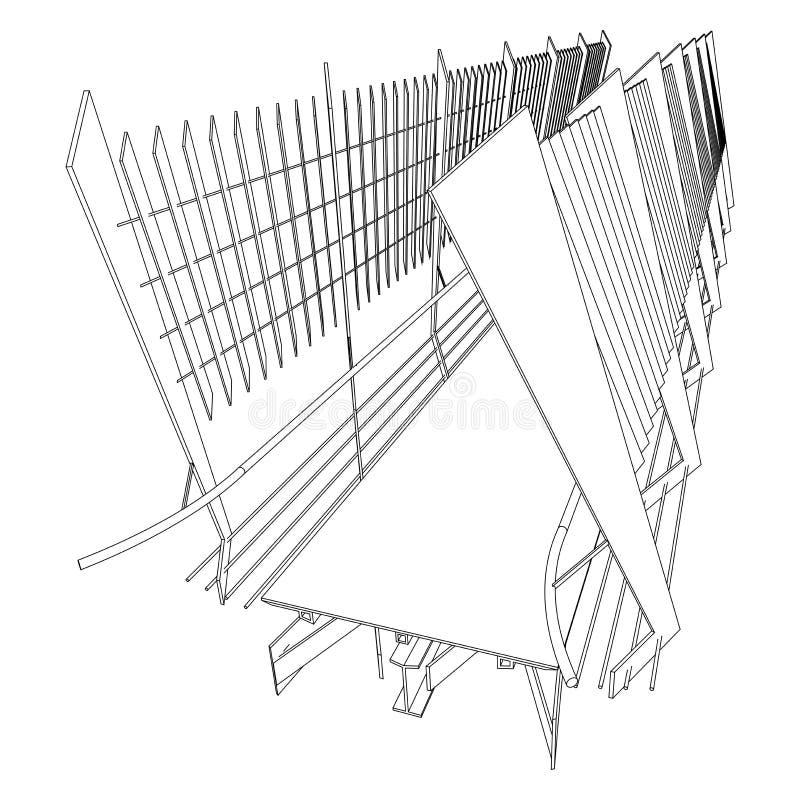 Prospettiva del ponticello illustrazione vettoriale