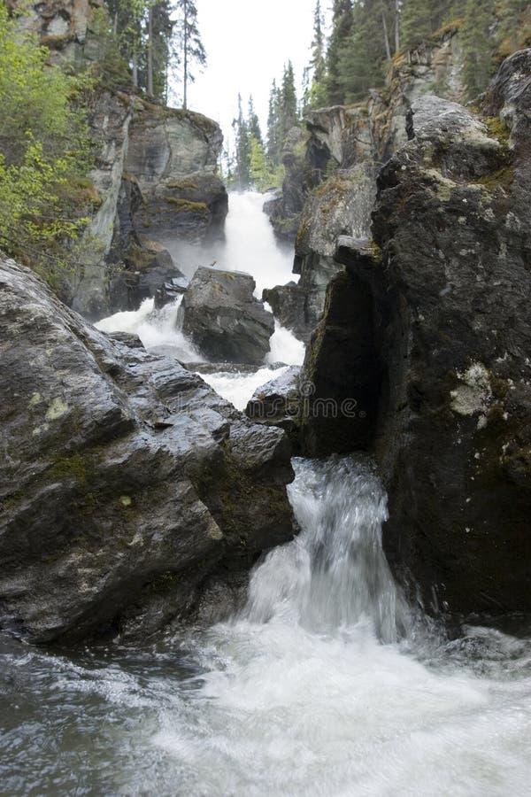 Prospettiva della cascata fotografie stock