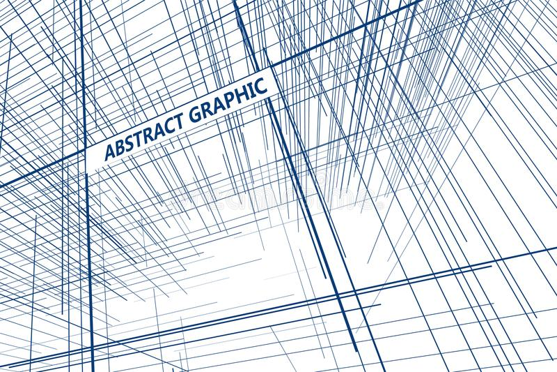 Prospettiva delle linee composte di progettazione grafica astratta royalty illustrazione gratis