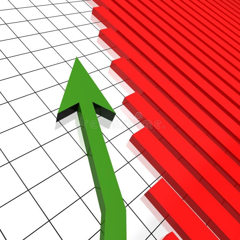 Prospettiva piana del grafico dell'equilibrio illustrazione vettoriale
