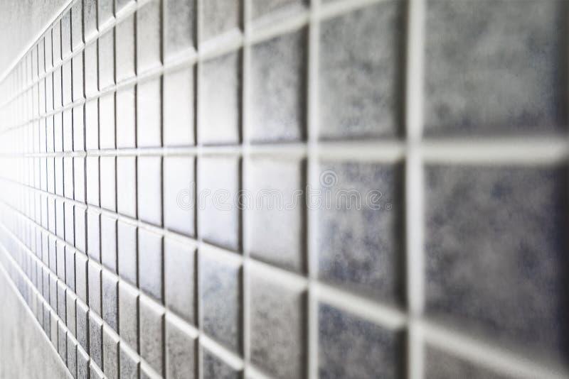 Prospettiva quadrata delle mattonelle del mosaico fotografia stock libera da diritti