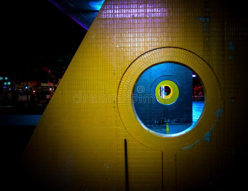 Prospettiva senza fine del cerchio fotografia stock