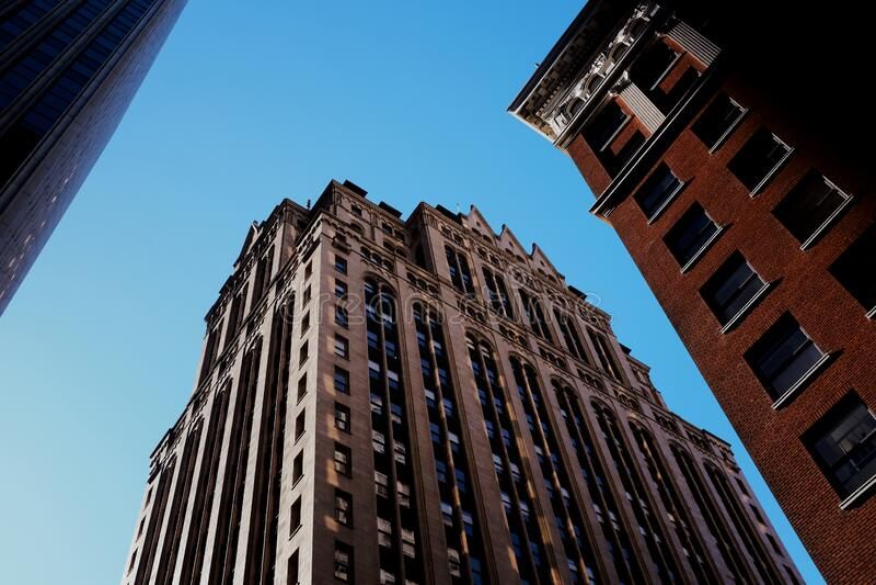 Prospettiva urbana fotografia stock