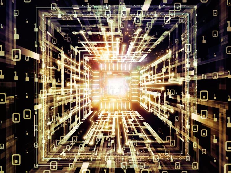 Prospettive dell'unità di elaborazione di Digital illustrazione di stock