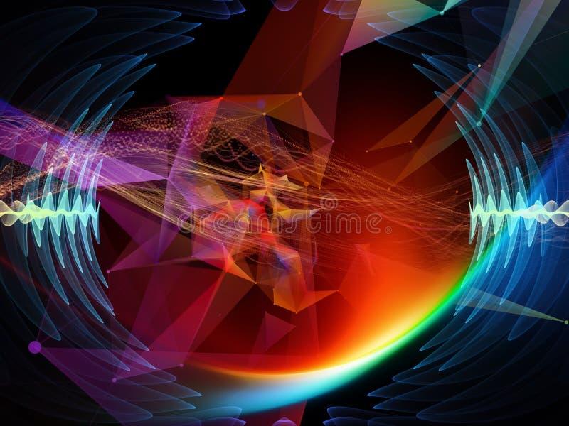 Prospettive di Digital del mondo virtuale illustrazione vettoriale