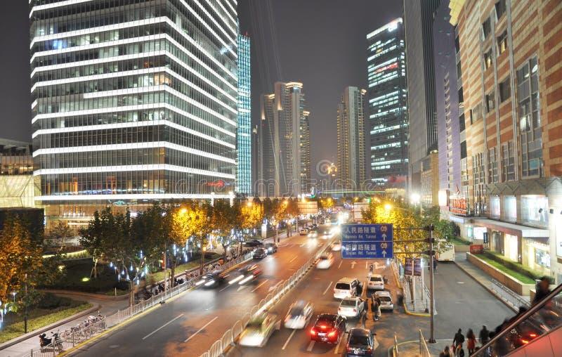 Prosprous Shanghai night scenic stock photos