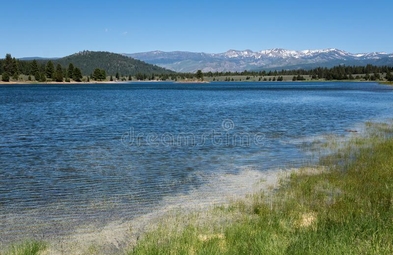 Prosser Creek Reservoir, Summer Solstice stock photography