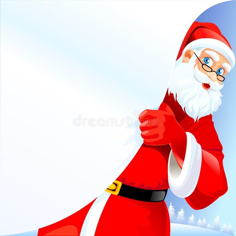 ?Prossimo sopra? nel Babbo Natale illustrazione di stock
