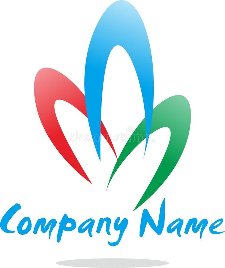 Prosta abstrakcjonistyczna logo firma zdjęcie stock