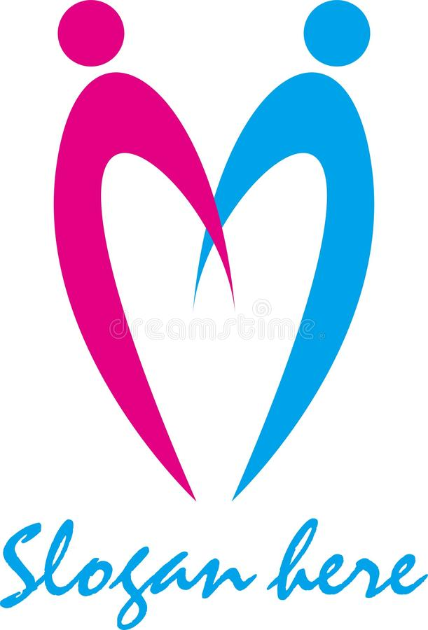 Prosta abstrakcjonistyczna logo firma zdjęcia stock