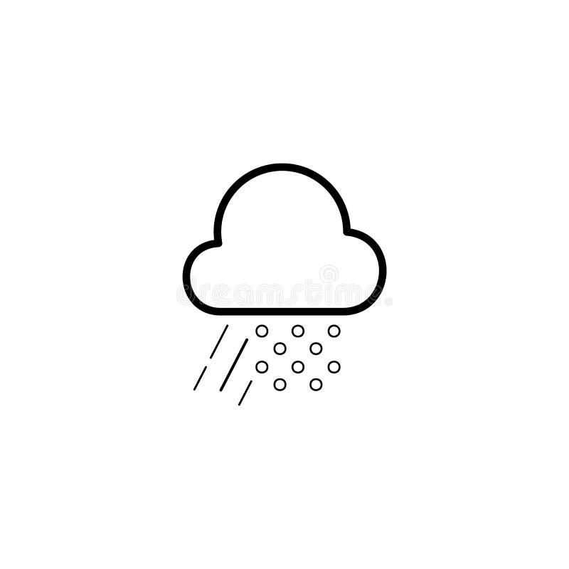 Prosta chmury, ulewnego deszczu i śniegu ikona, ilustracja wektor