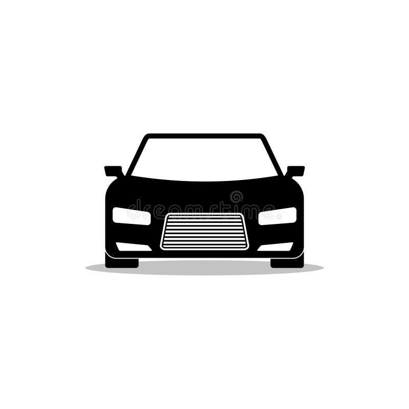 Prosta Czarna Samochodowa logo znaka ikona ilustracja wektor