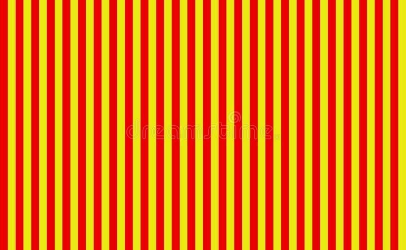 Prosta czerwień i żółci pionowo bezszwowi lampasy ilustracja wektor