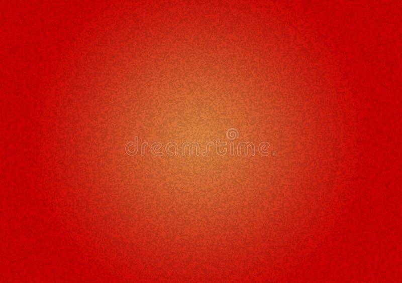 Prosta czerwień textured tło z żółtym gradientem zdjęcia royalty free