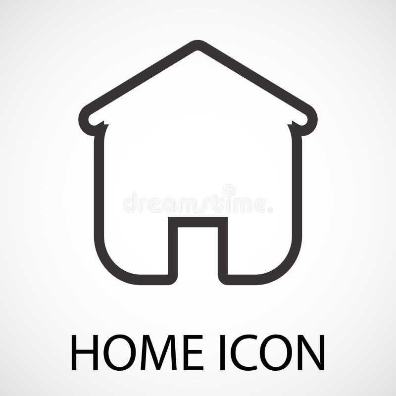 Prosta domowa ikona ilustracja wektor