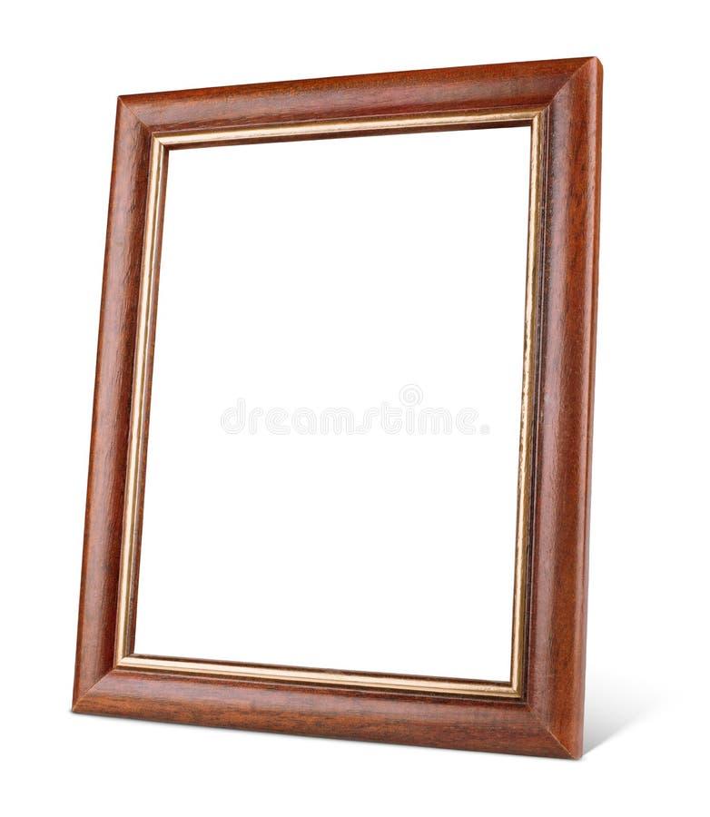 Prosta drewniana obrazek rama z cieniem zdjęcia royalty free