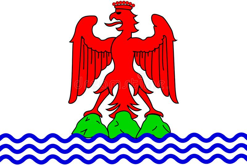 Prosta flaga miasto Francja royalty ilustracja