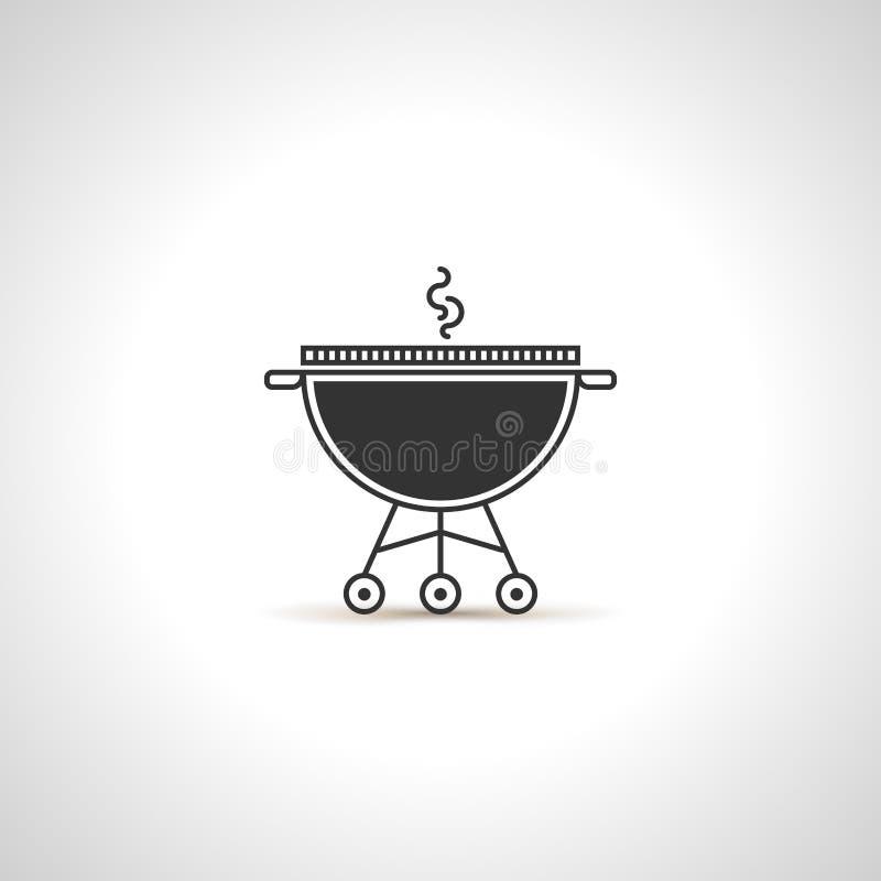 Prosta grill ikona Czarny emblemat royalty ilustracja