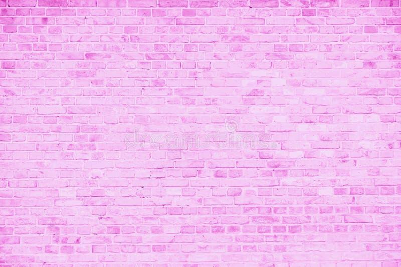 Prosta grungy menchii i bielu ściana z cegieł z światłem - szarych cieni wzoru powierzchni tekstury bezszwowy tło obraz stock