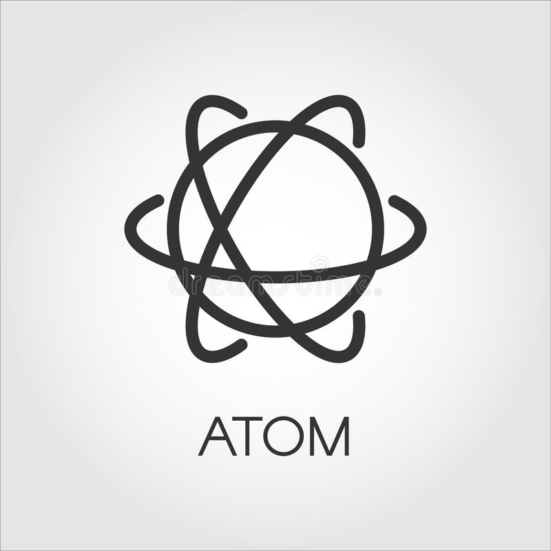 Prosta ikona atom Chemia, nauki pojęcie ilustracja wektor