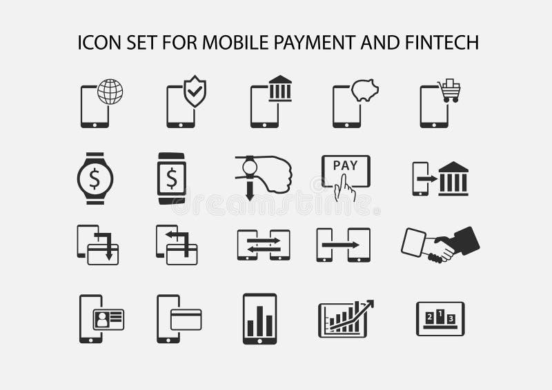 Prosta ikona ustawiająca dla mobilnej zapłaty i elektronicznej zapłaty