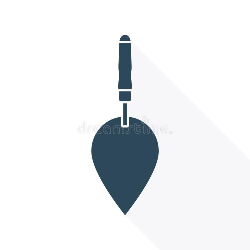 Prosta ikony kielnia z długim cieniem royalty ilustracja