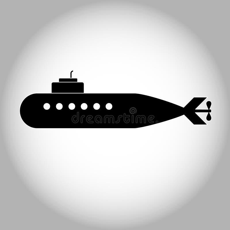 Prosta ilustracja militarna łódź podwodna ilustracja wektor