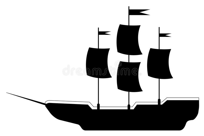Prosta ilustracja statek wycieczka ilustracji