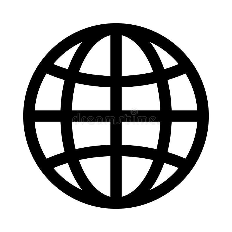 prosta kuli ziemskiej ikona kuli ziemskiej loga wektoru sie? royalty ilustracja