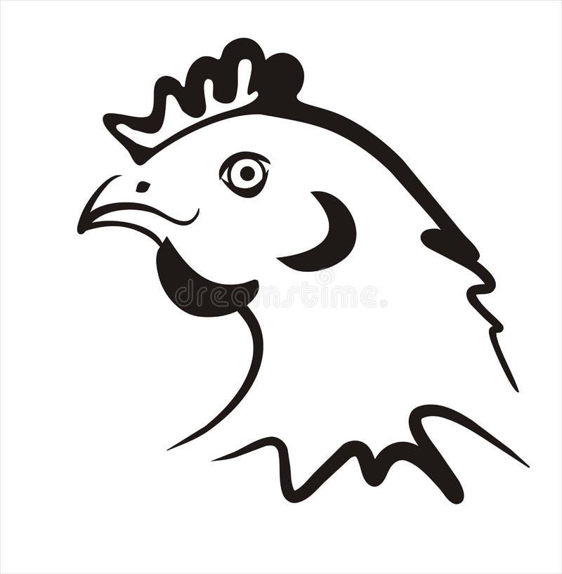 prosta kurczak ikona ilustracji
