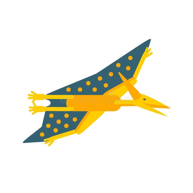 Prosta mieszkanie stylu ikona Pteranodon Piktogram pterozaur dla druku na koszulce ilustracji