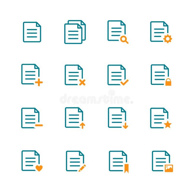 Prosta minimalistyczna kartoteki ikona w różnorodnym zarysowanym stylu ilustracja wektor