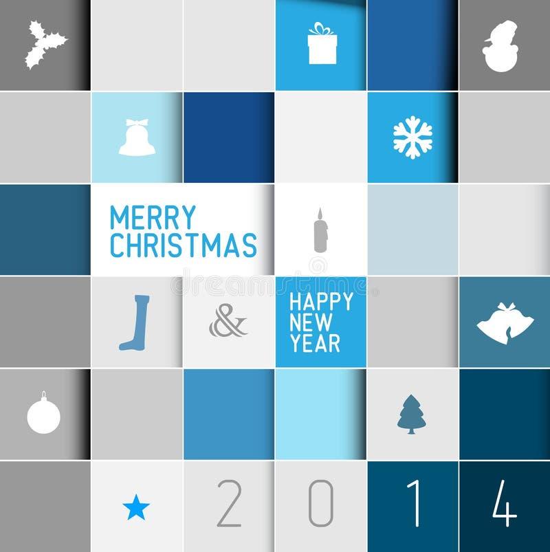Prosta nowożytna minimalistic wektorowa kartka bożonarodzeniowa ilustracji