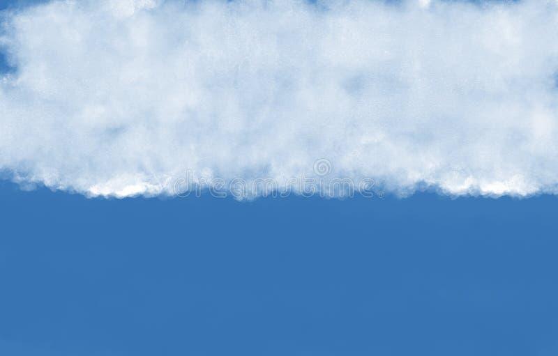 Prosta obłoczna ilustracja z niebieskim niebem białe chmury ilustracji