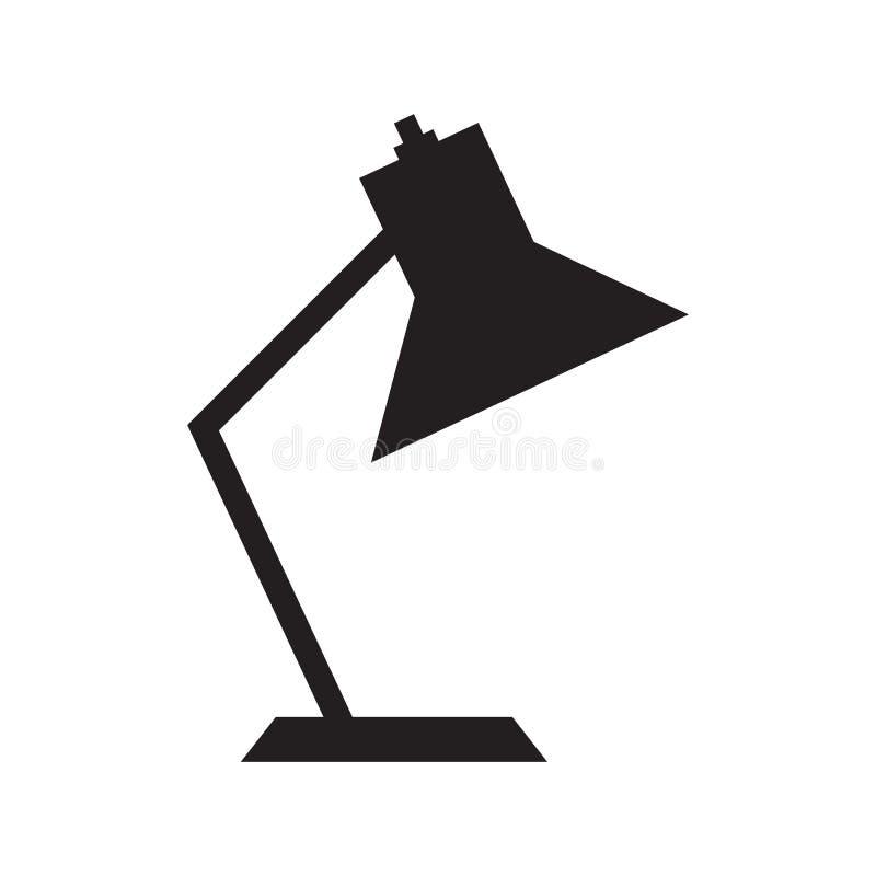 Prosta płaska biurko lampy ikona ilustracji