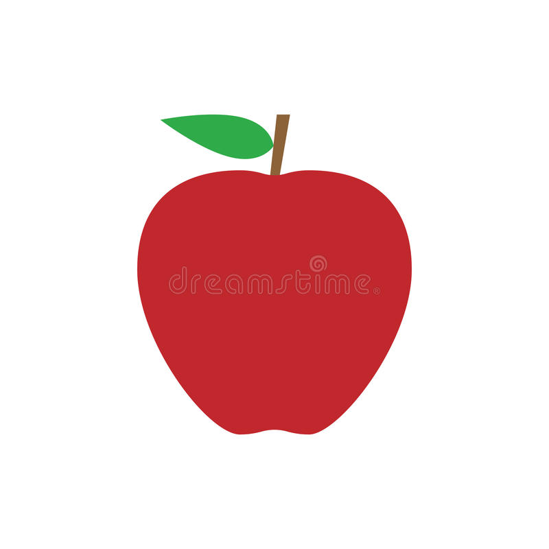 Prosta płaska jabłczana ikona royalty ilustracja