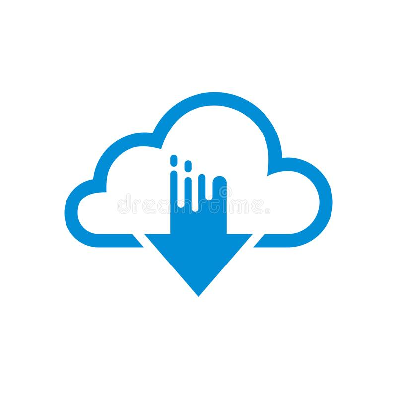 Prosta Płaska minimalista chmury App ikona royalty ilustracja