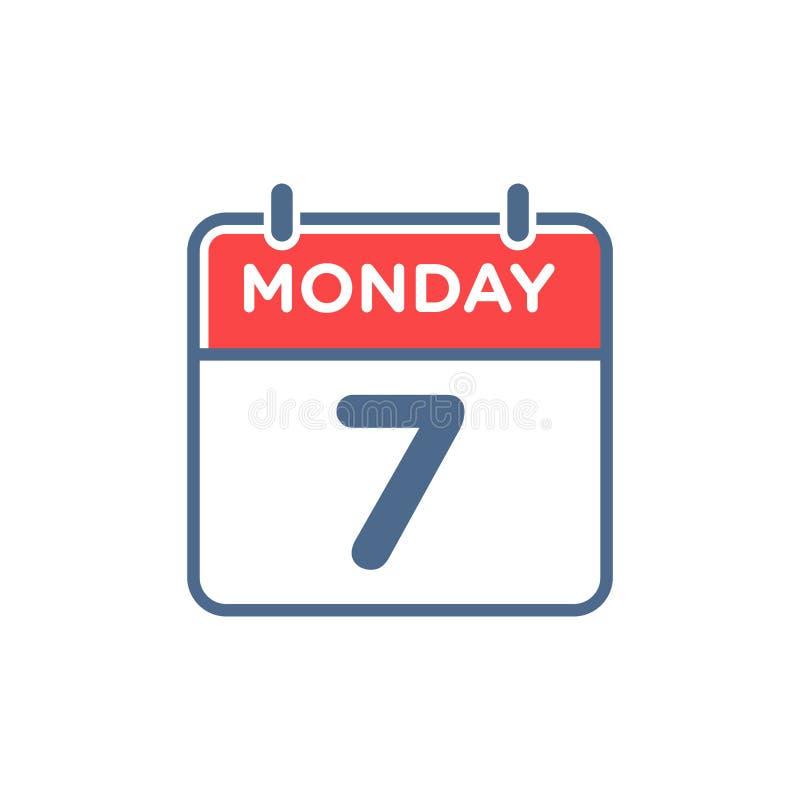 Prosta Płaska minimalisty kalendarza ikona ilustracji