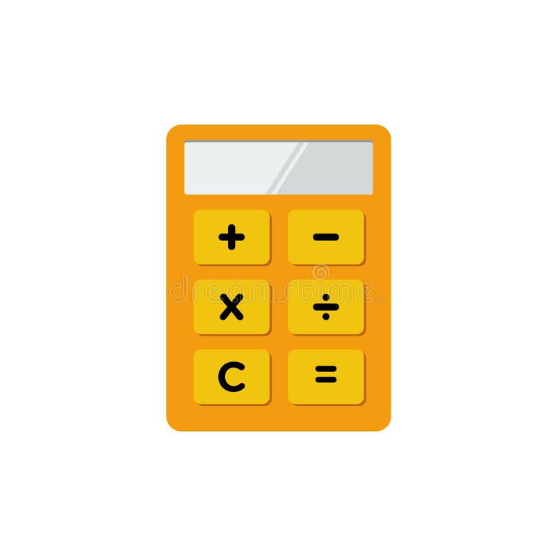 Prosta Płaska minimalistyczna kalkulatora symbolu ikona royalty ilustracja