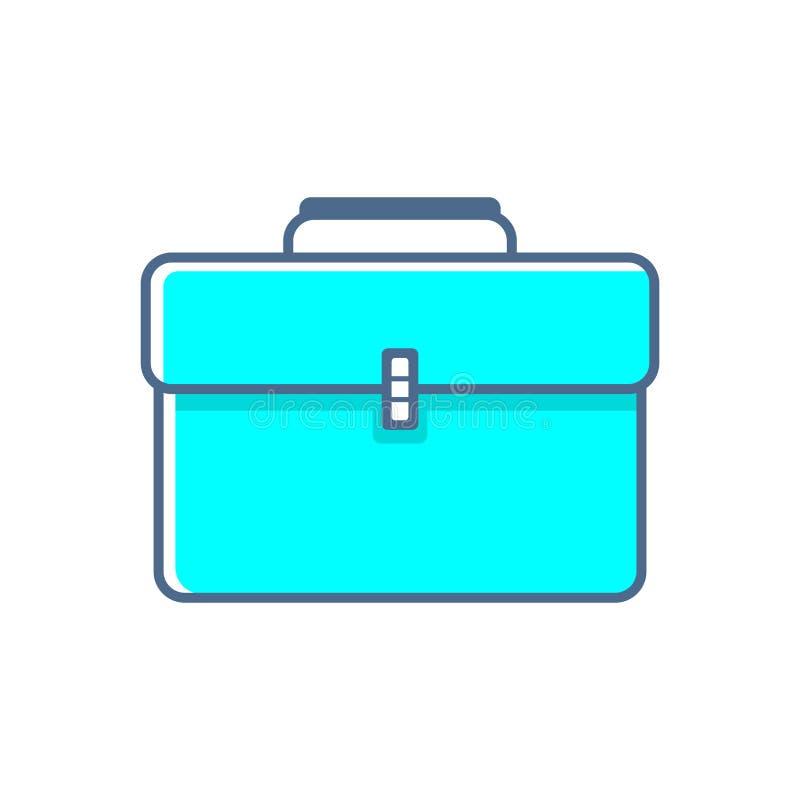 Prosta płaska minimalistyczna teczki ikona ilustracji