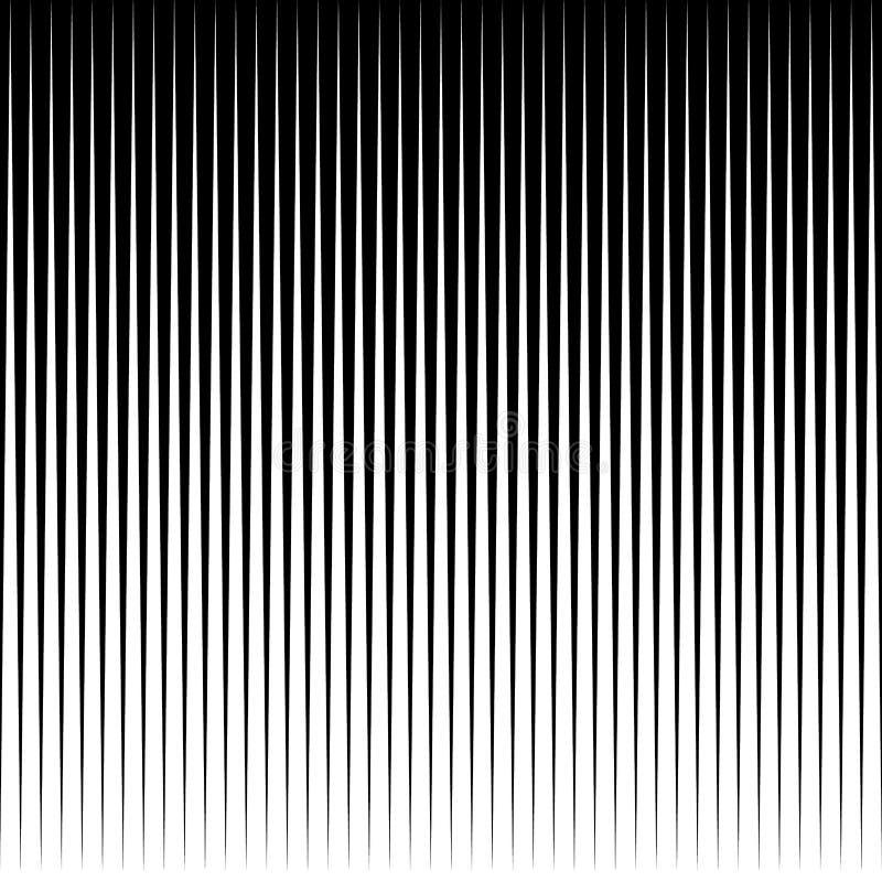 Prosta pionowo paralela wykłada abstrakcjonistycznego geometrycznego monochrom royalty ilustracja